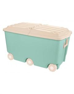 Ящик для игрушек на колесах 66 5 л 68 5 39 5 38 5 мм Пластишка