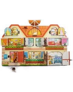 Деревянная игрушка Бизиборд Дом в котором мы живем Нескучные игры