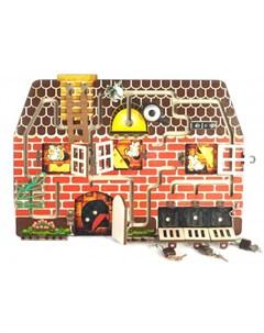 Деревянная игрушка Бизиборд 4 Кошки мышки Нескучные игры