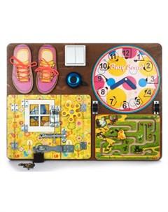 Деревянная игрушка Бизиборд 2 для девочек Нескучные игры