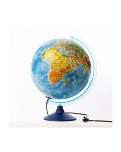 Глобус Земли физико политический рельефный 320 с подсветкой серия Евро Globen
