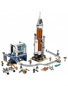 Конструктор City Space Port Ракета для запуска в далекий космос и пульт управления запуском Lego