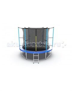 Батут Internal с внутренней сеткой и лестницей 10ft Evo jump