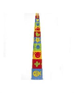 Развивающая игрушка Ведерко пирамидка 11 предметов Gowi