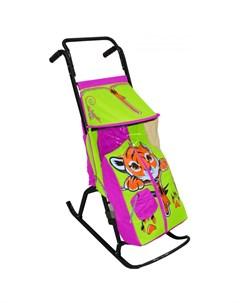 Санки коляска Снегурочка 2 Р Тигренок R-toys
