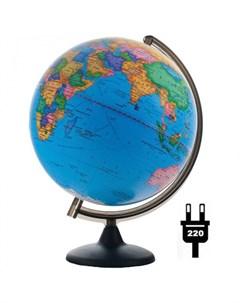 Глобус политический 32 см с подсветкой Глобусный мир