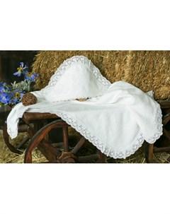 Крестильная пеленка Ажурный хлопок 100х100 12 814 10 Alivia kids