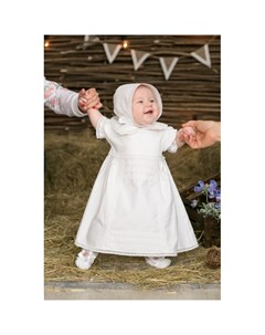 Крестильный набор для девочки Ажурный хлопок 15 251 10 Alivia kids