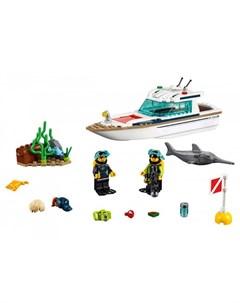 Конструктор City 60221 Great Vehicles Яхта для дайвинга Lego