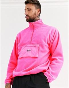 Розовая флисовая походная куртка Розовый Reebok