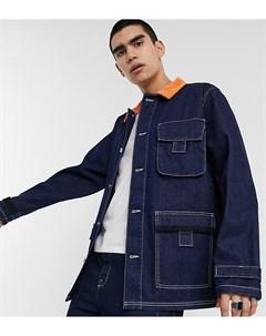 Синяя джинсовая куртка в стиле милитари COLLUSION Синий Collusion