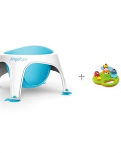 Сидение для купания Bath ring и игрушка для купания Chicco Остров пузырьков Angelcare