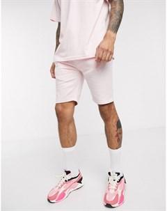 Розовые трикотажные шорты от комплекта Розовый Soul star
