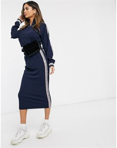 Фактурная юбка миди Juicy couture Синий
