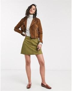 Зеленая мини юбка Зеленый Only