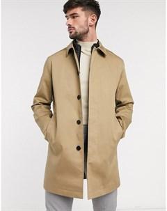 Бежевое пальто из органического хлопка Светло коричневый Selected homme
