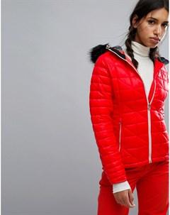 Дутая горнолыжная куртка с искусственным мехом на капюшоне Dare2be Endow Красный Dare 2b