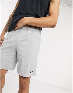 Серые хлопковые шорты Dri Fit Серый Nike training