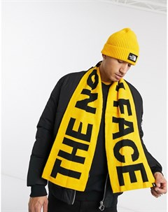 Желто черный шарф с логотипом Желтый The north face