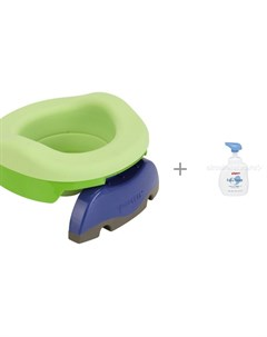 Горшок дорожный с аксессуарами с мылом пенкой для младенцев Pigeon 500 мл Potette plus