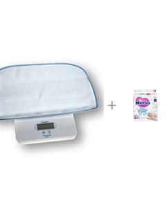 Детские весы 6420 с подгузниками Merries NB 0 5 кг 90 шт Momert