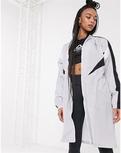 Серая длинная спортивная куртка Серый Reebok