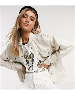 Светло бежевая джинсовая oversized куртка inspired Белый Reclaimed vintage