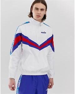 Белая спортивная куртка с молнией 1 2 Белый Diadora