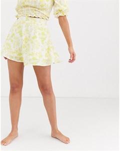 Мини юбка с цветочным принтом Мульти Charlie holiday