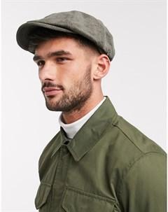 Вельветовая кепка оливкового цвета Зеленый Ben sherman
