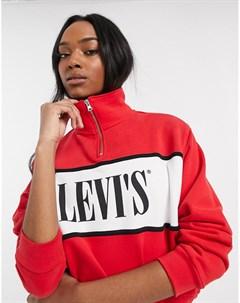 Свитшот на молнии с логотипом Levis Красный Levi's®