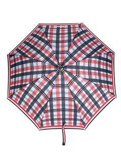 зонт в полоску с искривленной ручкой Thom browne