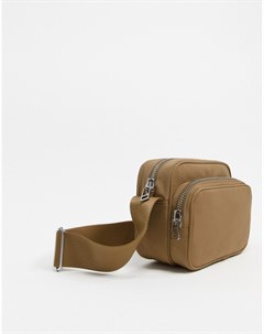 Серо коричневая походная сумка через плечо Коричневый Weekday