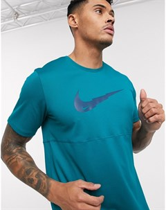 Синяя футболка с логотипом галочкой Синий Nike running