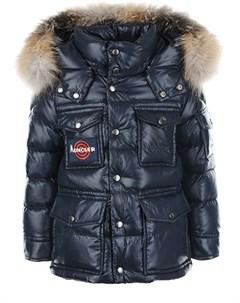 Стеганая куртка с накладными карманами детская Moncler