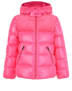 Куртка пуховик цвета фуксии детская Moncler