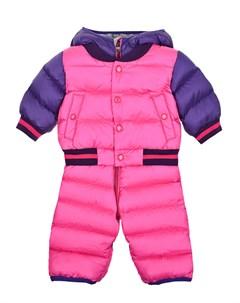 Розовый пуховый комбинезон детский Moncler