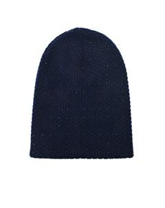 Синяя шапка из кашемира со стразами Swarovski William sharp