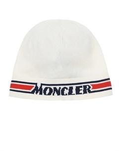 Шапка с логотипом и полосками детская Moncler