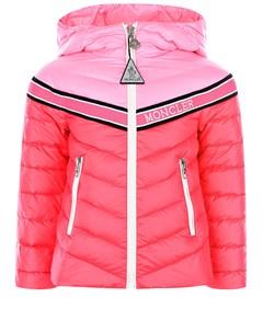 Стеганая пуховая куртка с капюшоном детская Moncler