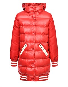 Красный удлиненный пуховик Moncler