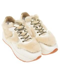 Кроссовки с меховыми вставками Voile blanche