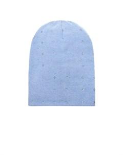 Голубая шапка из кашемира с кристаллами Swarovski William sharp