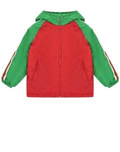 Куртка colorblock с лампасами на рукавах детская Gucci