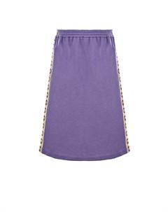 Фиолетовая юбка с лампасами детская Gucci