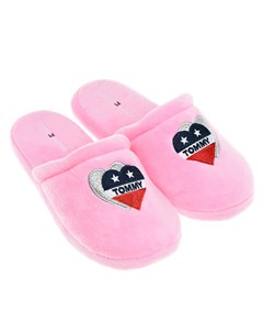 Розовые домашние тапочки детские Tommy hilfiger