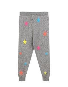 Серые кашемировые брюки с декором звезды Chinti & parker