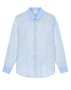 Голубая рубашка в полоску Gucci