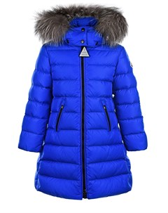 Пальто приталенного кроя с меховой опушкой Moncler