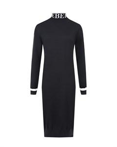Черное шерстяное платье Iceberg